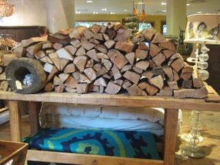 Stack of wood display