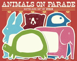 Notecards-animalsonparade