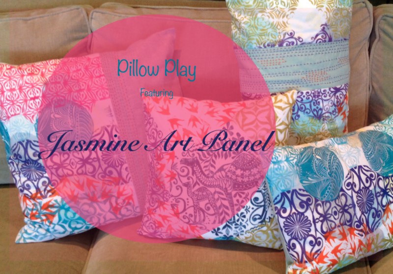 Pillow Play featuring the Jasmine Art Panel