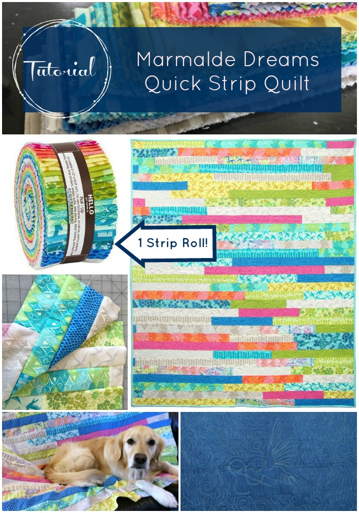 If you're looking for quick quilting satisfaction and a beautiful finished  project, a quick strip quilt is your answer.