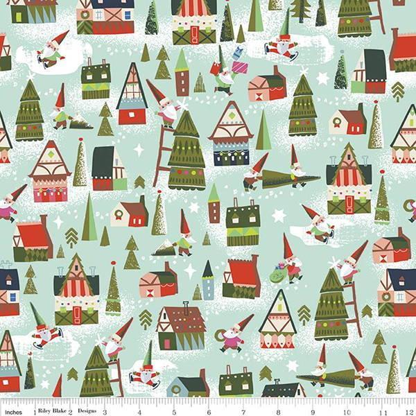 Christmas_Fabric_Riley_Blake_Way_Up_North_C7321_Mint (1)