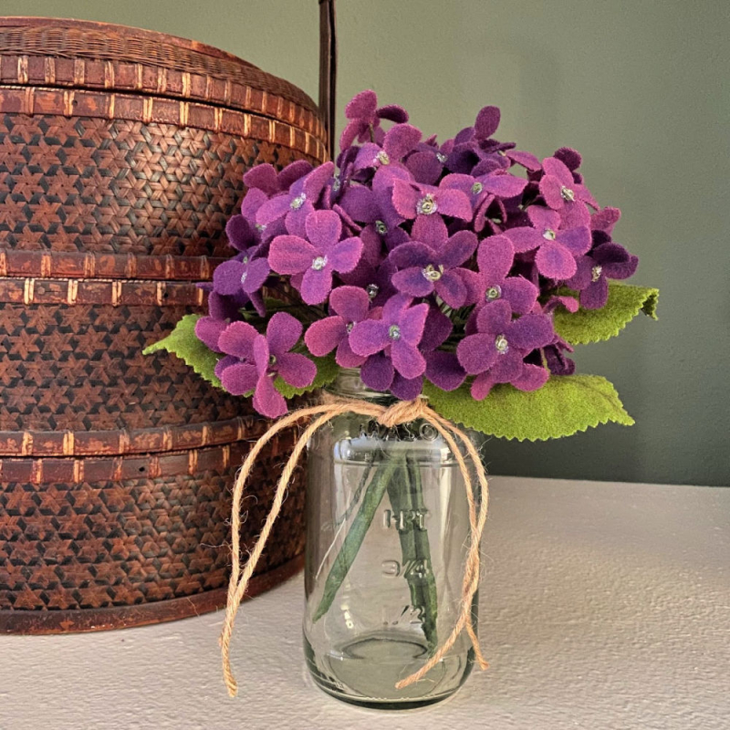 PurpleHydrangeaWool